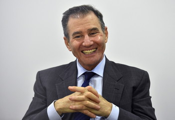 Glasenberg, CEO of Glencore, reacts during an interview with Thomson Reuters in London, Britain