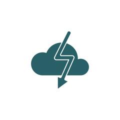 Cloud lighting icon