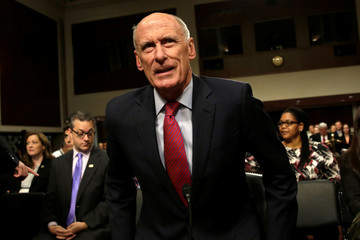 Director of National Intelligence Dan Coats arrives to testify