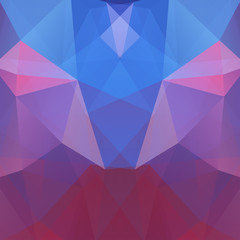 Abstract background consisting of blue, pink, purple triangles. Geometric design for business presentations or web template banner flyer. Vector illustration