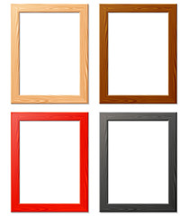 four various wood frame