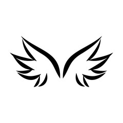 Wing silhouette design vector