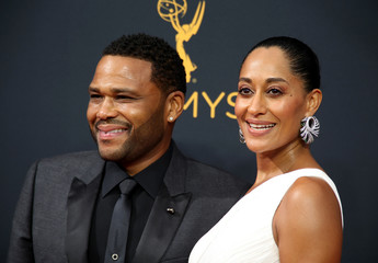 Actors Tracee Ellis Ross and Anthony Anderson arrive at the 68th Primetime Emmy Awards in Los Angeles