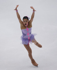 Japan's Murakami performs at the women's short program segment during the Cup of China ISU Grand Prix of Figure Skating in Beijing