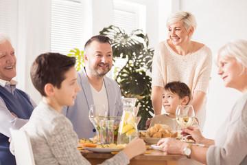 Family celebration dinner