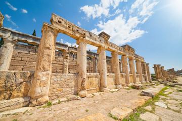 Frontinus Street at Hierapolis near modern Pamukkale in Turkey