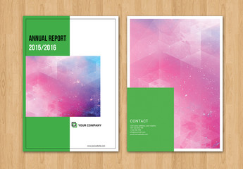 Brochure Layout with Green Elements 1