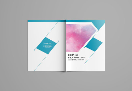 Brochure Layout with Teal Elements 1