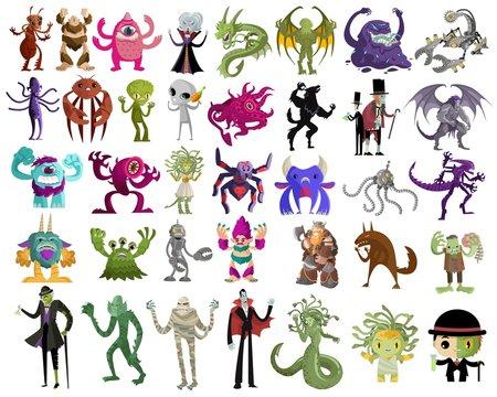 evil villain monsters