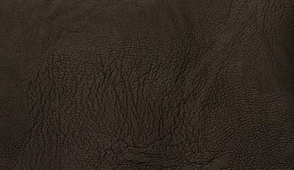 Keuken foto achterwand Leder Black genuine leather texsture background with grain surface.