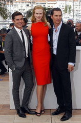 """Cast members Kidman, McConaughey and Efron pose during a photocall for the film """"The Paperboy"""" by director Daniels in competition at the 65th Cannes Film Festival"""
