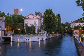 Beautiful evening in Treviso, Italy