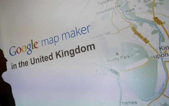 Google Maps product manager Jessica Pfund announces the launch of the UK Google Map Maker tool in Bletchley