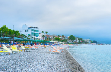 The central beach of Kemer