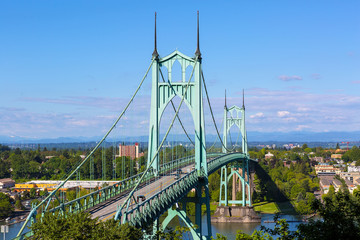 St Johns Bridge over Willamette River