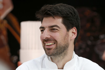 Italian Chef Massimiliano Alajmo attends the opening of the Taste Festival at the Grand Palais in Paris