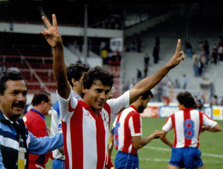 FILE PHOTO - Roberto Cabanas, a former Paraguayan professional football player, is seen in this undated picture