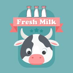 Fresh milk concept