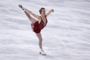 Ashley Wagner of the U.S. performs during her ladies free skating program at the ISU Bompard Trophy event at Bercy in Paris