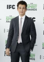 Actor Miles Teller arrives at the 2014 Film Independent Spirit Awards in Santa Monica