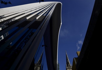The Wider Image: Church spires and skyscrapers in the City of London