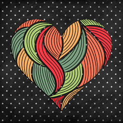 hand-drawn doodle heart