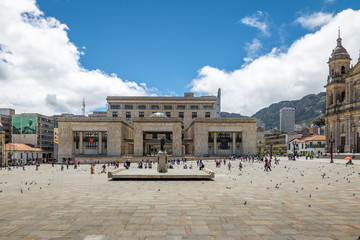 Bolivar Square and Colombian Palace of Justice - Bogota, Colombia