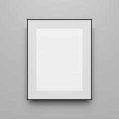 Vertical black Frame vector Template