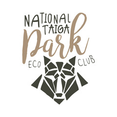 National park, eco club design template, hand drawn vector Illustration