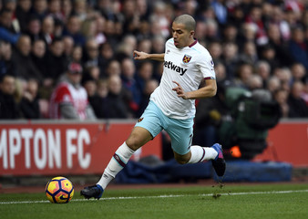 West Ham United's Sofiane Feghouli in action