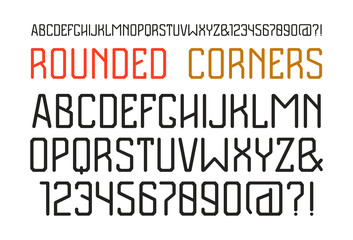 Sanserif font with rounded corners