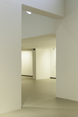 White corridor in a modern building