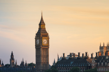 London panorama with Big Ben