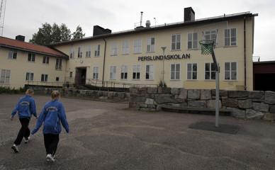 Childhood school of prince-to-be Westling is seen in Ockelbo