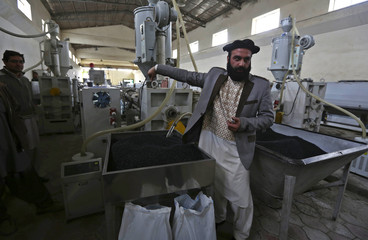 Najib Ullah Latify the owner of factory High Standard Pipe explains about his factory in Kabul