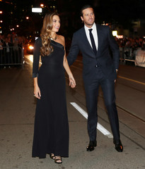 Armie Hammer and his wife Elizabeth Hammer arrive for the premiere of the film Nocturnal Animals at TIFF.