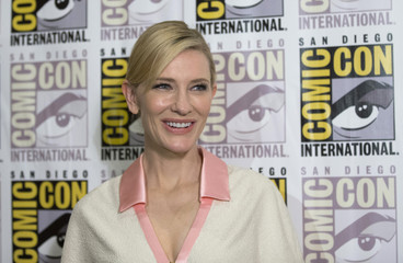 "Cast member Blanchett poses at a press line for ""The Hobbit: The Battle of the Five Armies"" during the 2014 Comic-Con International Convention in San Diego"
