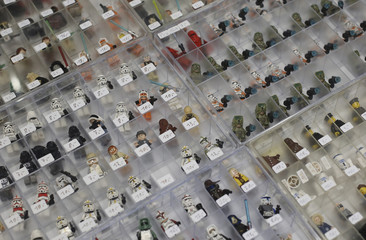"""Lego Star Wars characters are on display at the cartoon fair """"Vienna Comix"""" in Vienna"""