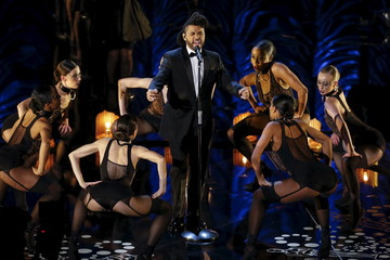"""The Weeknd performs the nominated Best Original Song """"Earned It"""" at the 88th Academy Awards in Hollywood"""
