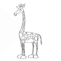 cute yellow Giraffe painting page