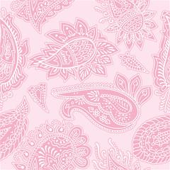 Seamless pink paisley pattern