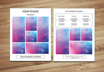 Grid Style Photography Brochure Layout 6