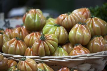 England, London, Southwark, Borough Market, Vegetable Stall, Tomato Display
