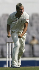 South Africa's Harris celebrates after taking the wicket of India's Vijay in Nagpur