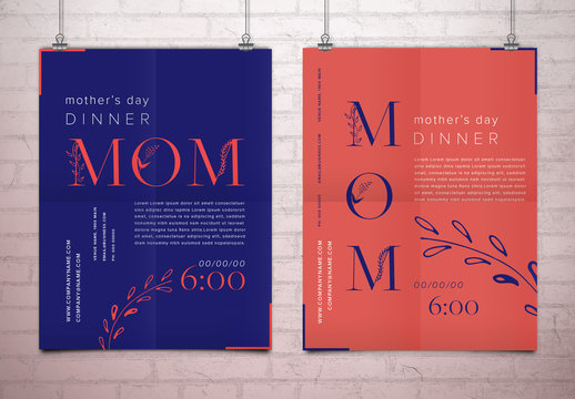 Two Mother's Day Promotional Posters