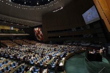 Finland President Tarja Halonen addresses the 65th United Nations General Assembly at the U.N. headquarters in New York