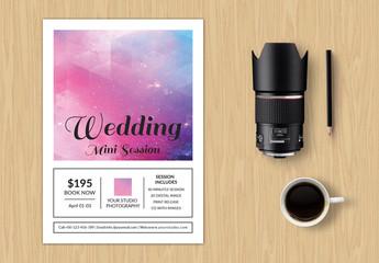 Minimalist Wedding Photography Studio Brochure Layout 1