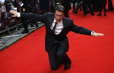 Director Gavin Hood  poses for photos at the UK premiere of Eye in the Sky, at a cinema in central London, Britain