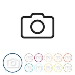 Bunte 3D Buttons - Kamera