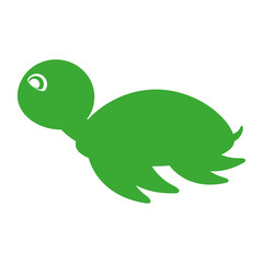 cute tortoise isolated icon vector illustration design
